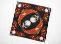 Bandana schwarz mit Druck ca. 56x56 Pirat Karneval